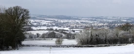 Ottery St. Mary, UK: snow over Ottery St Mary
