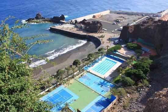 Parador de la Gomera: 24-10-10- club náutico y playa de La Cueva