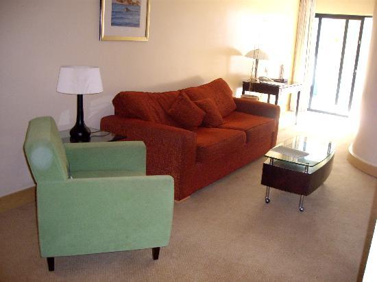 Diamond Suites on Malta: Lounge - shows width of area for sitting / watching TV