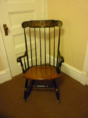 Yankee Pedlar Inn: The only chair in the room - the Hitchcock Rocker