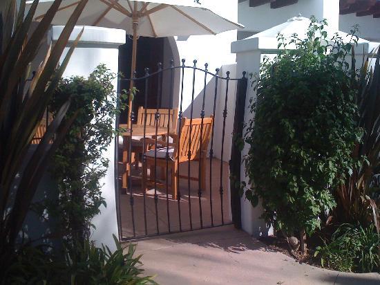 Omni La Costa Resort and Spa: The private patio...