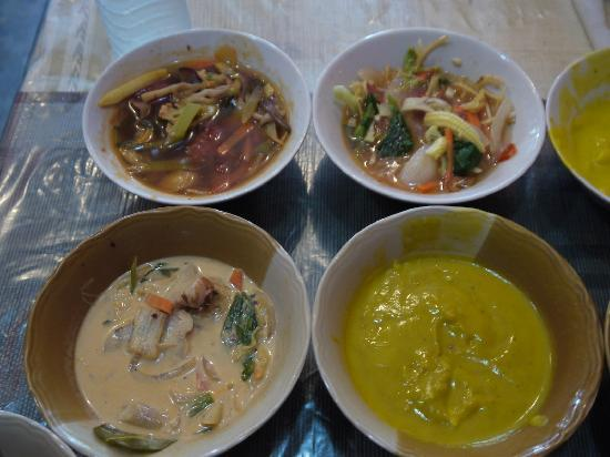 May Kaidee's Vegetarian Restaurant : tom yum, and pumpkin soup