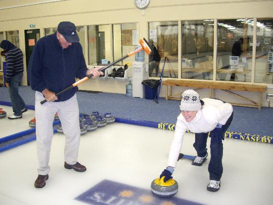 Off The Rails Cycle Tours: Curling was one of the many highlights