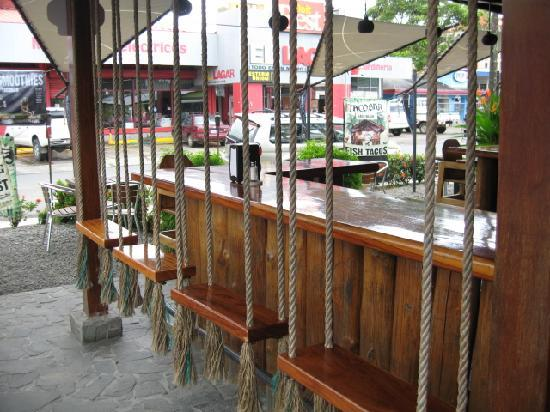 Swings Instead Of Bar Stools Picture Of Tacobar Jaco