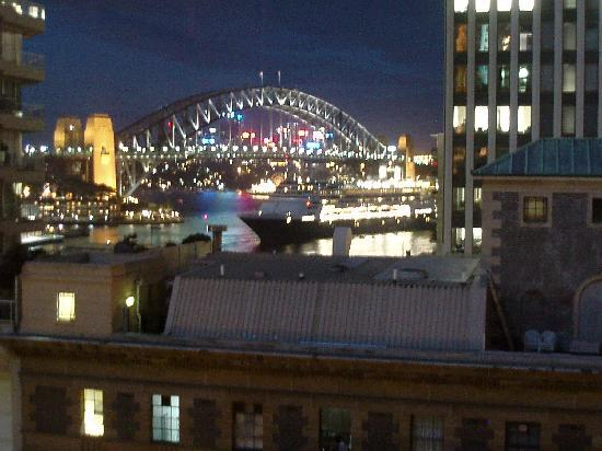 Sir Stamford at Circular Quay Hotel Sydney: View from our room of bridge