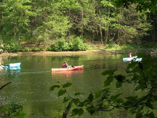Rocky Gap Casino Resort: Canoes that can be rented at the resort