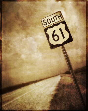 Blues Highway 61 running through the Mississippi Delta