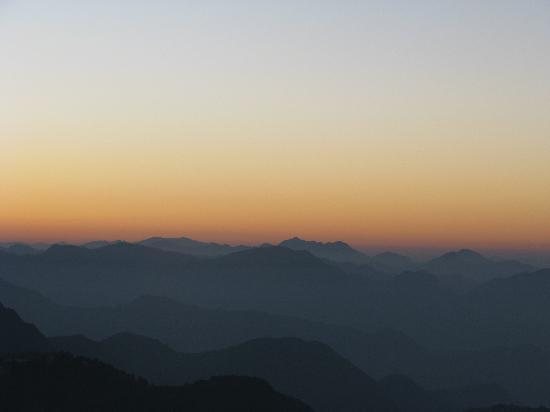 Sterling Mussoorie: View from the resort (dawn)