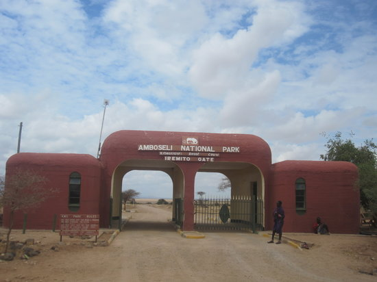 Amboseli National Park, Kenia: Entrance Gate to Amboseli