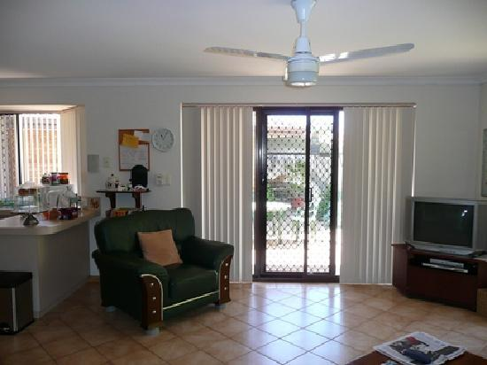 Southern River B&B: a very comfortable family room to watch foxtel
