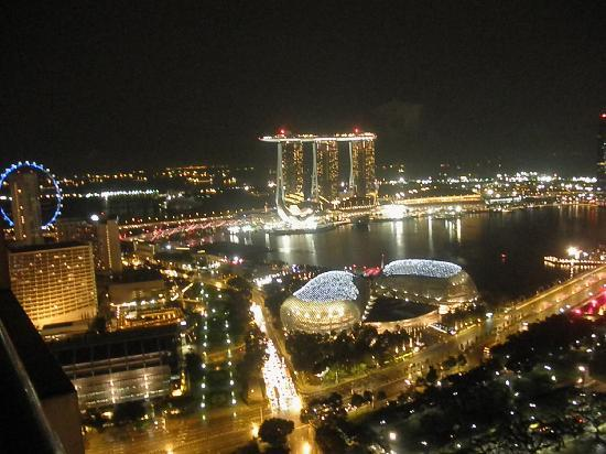 Swissotel The Stamford Singapore: Night View towards Sea from 4557