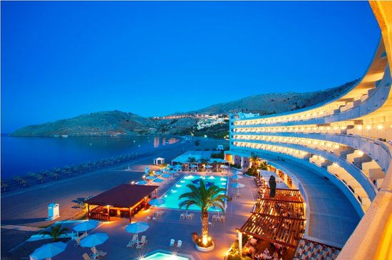 Sensimar Lindos Bay Resort & Spa: Mareblue Lindos Panoramic night