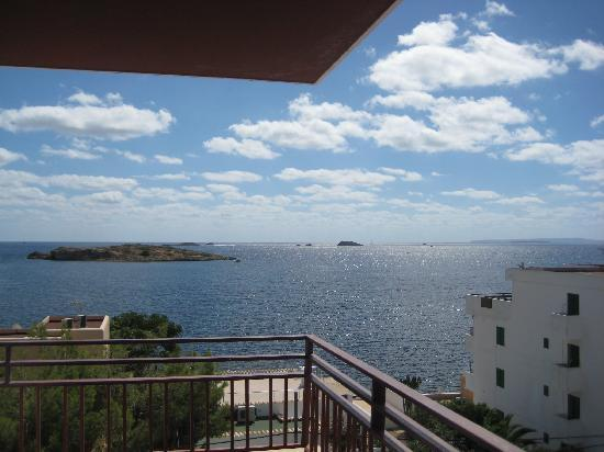 Poseidon I Apartments: panorama dal balcone