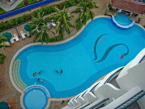 Flamingo Hotel By The Beach Penang View Of Swimming Pool From Our Balcony