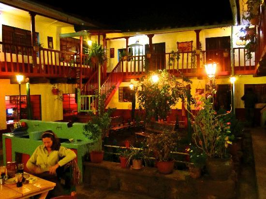 Hostal Magico: Main plaza and garden with rooms above