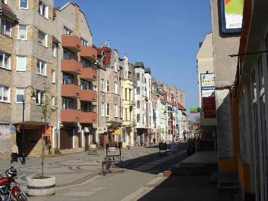Swinemuende, เยอรมนี: Fussgängerzone im alten Zentrum