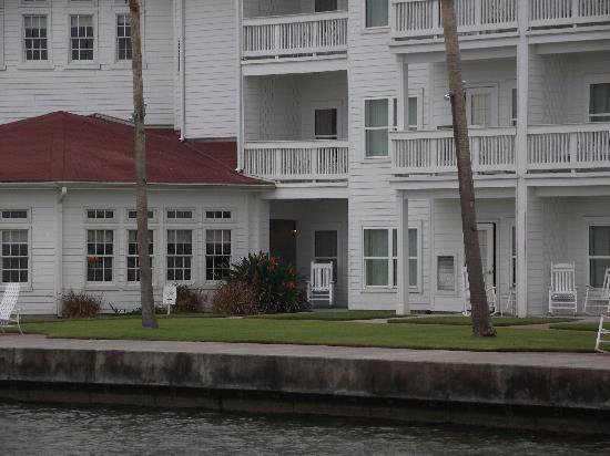 Rockport, TX: View of our room from pier