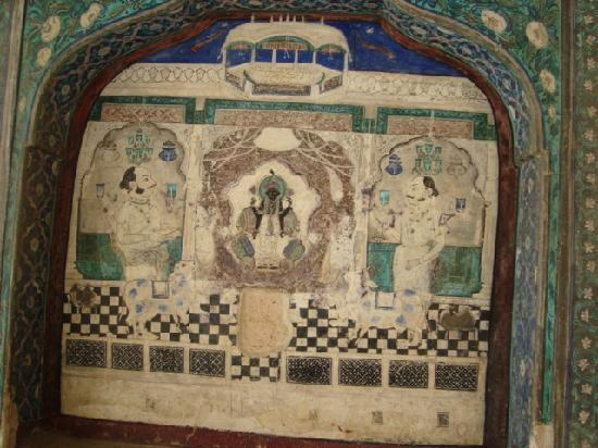 Bundi, India: Mural painting on wall