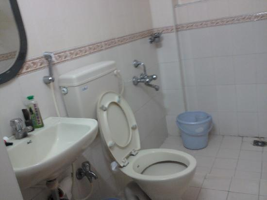 Orchid Inn: Attached bathroom & toilet