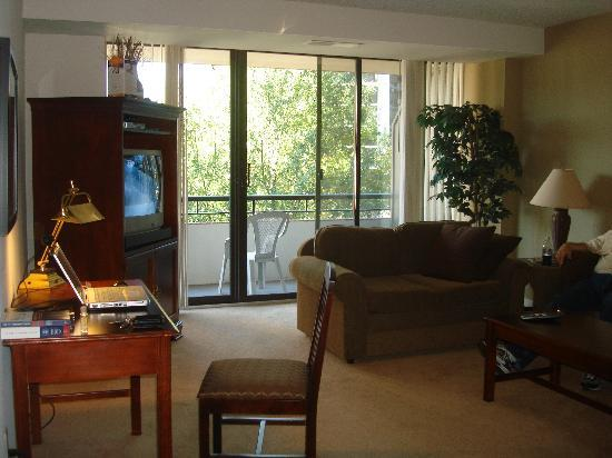Oakwood Apartments Arlington : Living room area