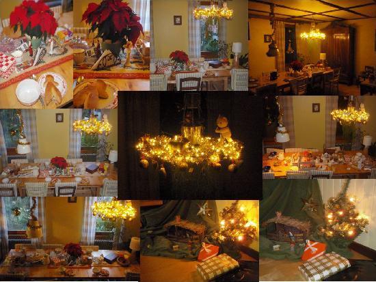 Luxhof chambres d'Hotes : Salle petit déjeuner à noël