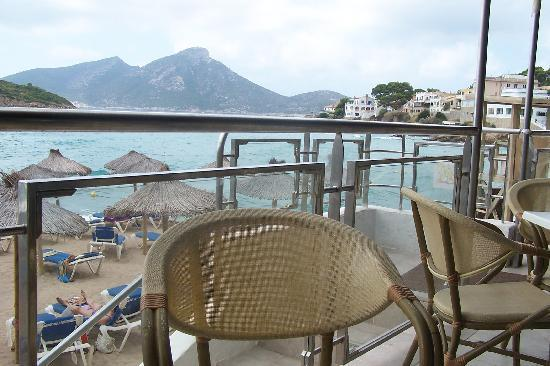 Sant Elm, Hiszpania: View from patio dinning, stormy day.