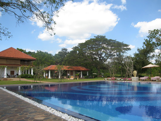 Ulagalla Resort: Property pool next to gym