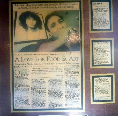 Pepe's Cafe: Newspaper article about owner