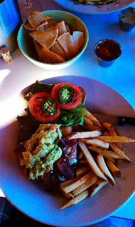 Sunset Grill: Black & Blue Burger with Roasted Jalapenos