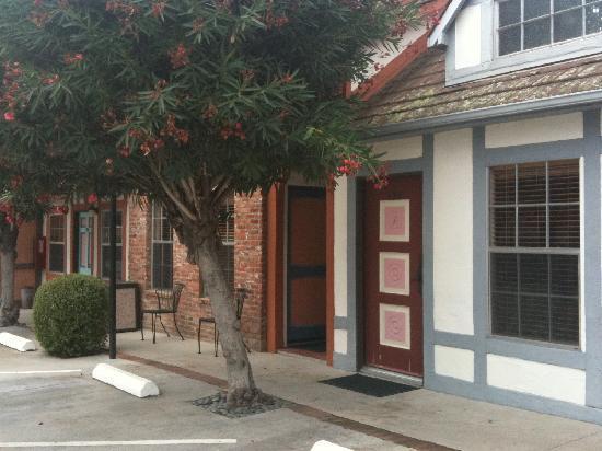 Exterior of hotel - door to room