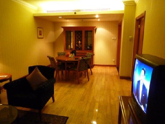 Lee Garden Service Apartment Beijing: Living/dining room