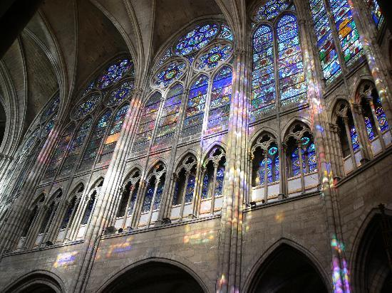 Saint-Denis, France : Stained glass windows