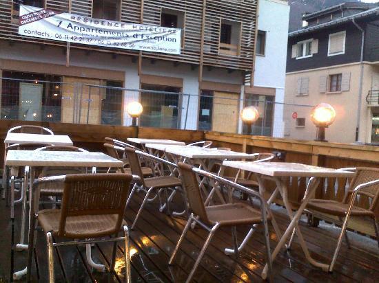 Annapurna Restaurant: open air dining