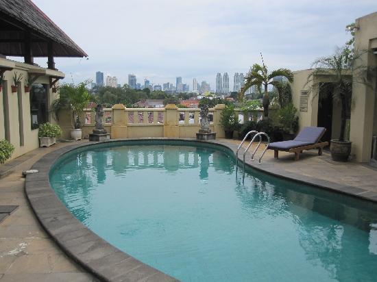 Grand Cemara Hotel : Small swimming pool at a roof terrace