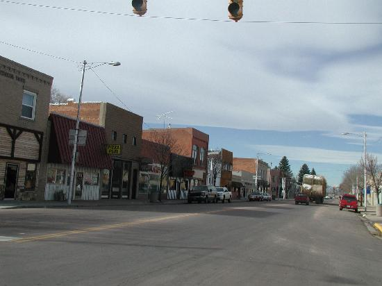 Downtown Ault, CO taken from Highway 85