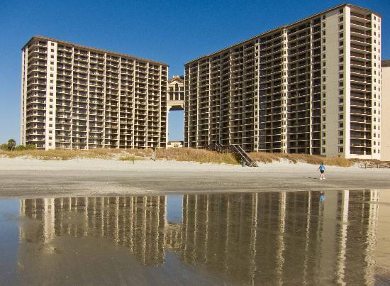 North Beach Plantation Towers Reflecting From The