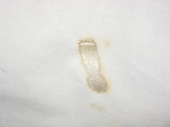 Motel 6 Portland: cig burns on sheets