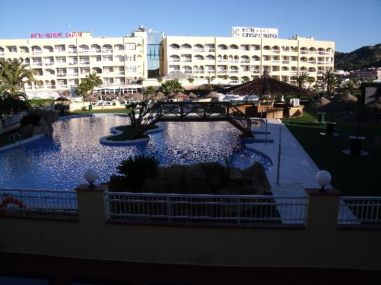 Evenia Olympic Palace: Piscine vue de notre balcon