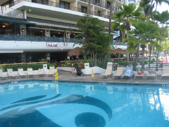Hotel swimming pool nice but smallish and deep picture of outrigger waikiki beach resort for Nice hotels with swimming pool