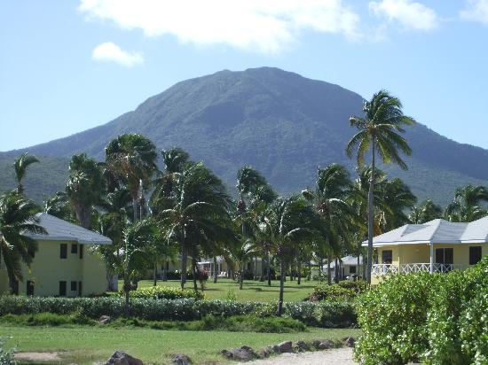 Nisbet Plantation Beach Club: Then Volcano in the background