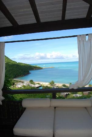 Saint Mary's, Antigua: view w daybed