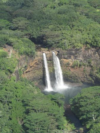 Wailua Falls : Falls from the helicopter ride- highly recommend the doors-off ride!