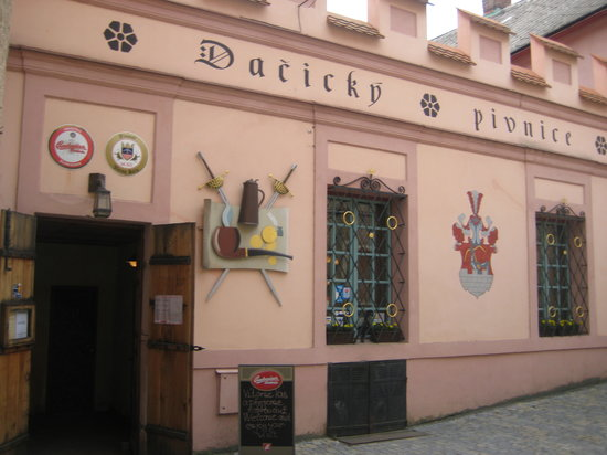 Pivnice Dacicky : The front of the Restaurant