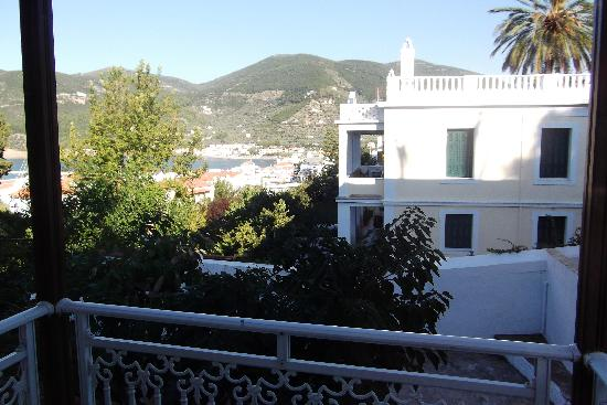 Ionia Hotel Skopelos: View from our tiny balcony at the hotel