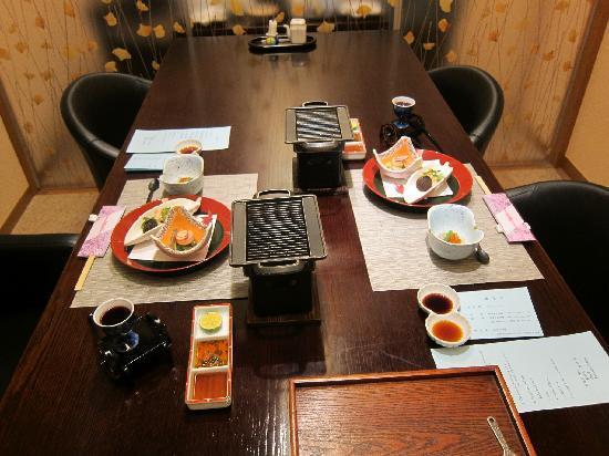 Taketoritei Maruyama: Japanese dinner (appetizer)