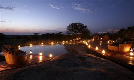 Sayari Camp, Asilia Africa: Pool by night