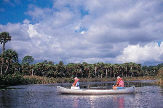Canoeing one of Daytona Beach's many rivers