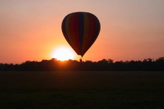 Governors' Camps Hot Air Ballooning: Ballooning at Sunrise over the Masai Mara