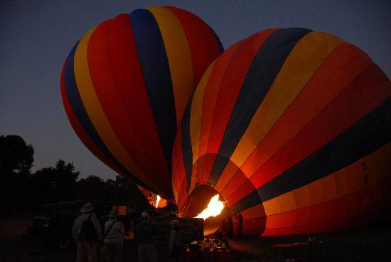 Governors' Balloon Safaris: Blowing up the Balloons