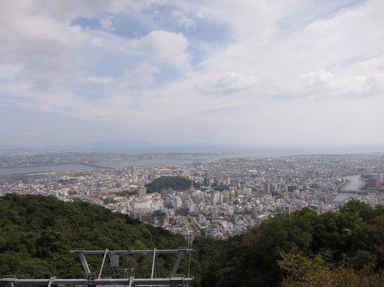 Tokushima, Japan: 頂上からの展望